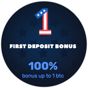 <p>Get a 100% First Deposit Bonus up to 1 BTC</p>